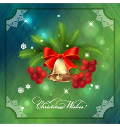 Christmas Holidays Frame Card with Decorations vector image