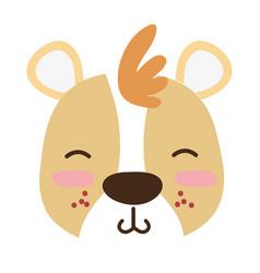 Colorful tender bear head wild animal vector