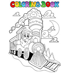 Coloring book christmas topic 4 vector