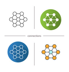 Connections icon vector