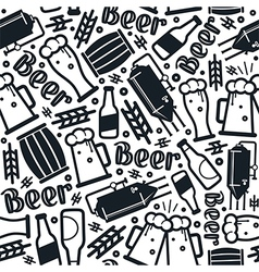Craft beer brewery seamless pattern vector