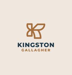 creative professional trendy monogram k logo vector image