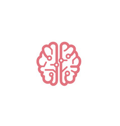 Creative smart brain technology logo vector