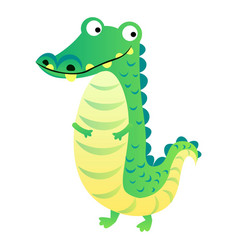 cute crocodile cartoon isolated on white vector image