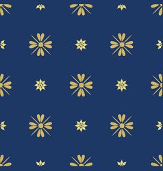 dark blue background with beautiful golg ornament vector image