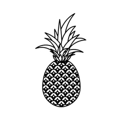 Delicious pineapple fruit isolated icon vector