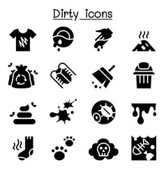 Dirty icon set vector