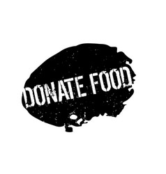 Donate food rubber stamp vector