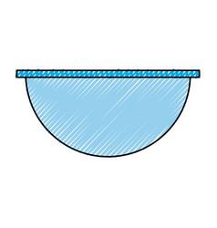 empty salad dish vector image