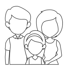 family with kids icon vector image