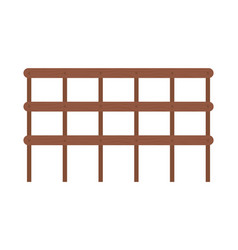 Fence made wooden material farmyard element vector