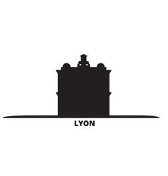 France lyon landmark city skyline isolated vector
