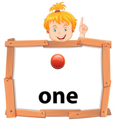 girl holding banner of number one vector image