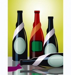 goblet of wine vector image