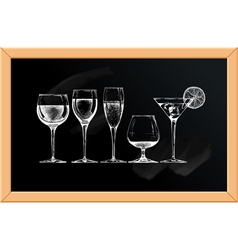goblet set vector image