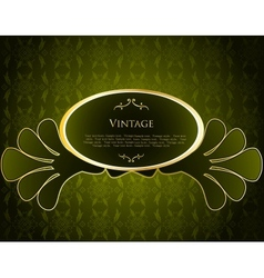 Green Label Template vector