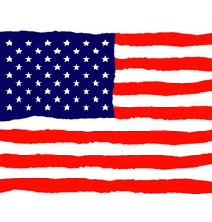 Grunge American Flag for Independence Day vector image