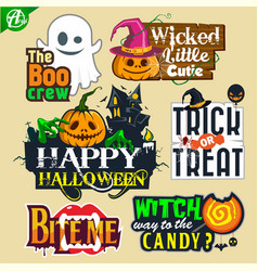 Hallowen sticker vector