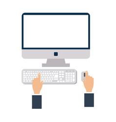 hands using computer vector image