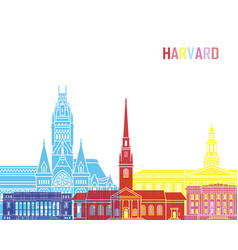Harvard ma skyline pop vector