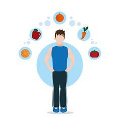 Healthy habits lifestyle vector