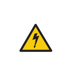 high voltage danger sign with lightning bolt arrow vector image