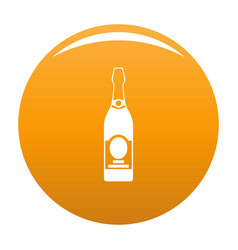 Holiday champagne icon orange vector