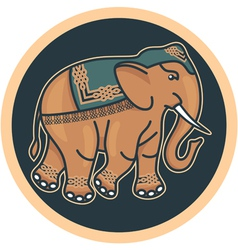Indian Decorated Elephant vector