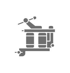 Induction tattoo machine equipment gray vector