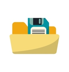 Isolated diskette and file design vector