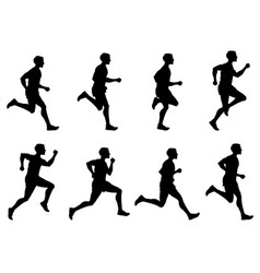 jogging man running athlete runner vector image