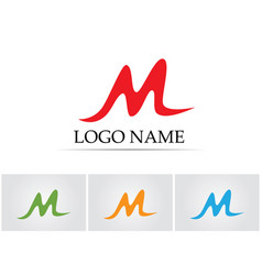letter m icons such logos template vector image