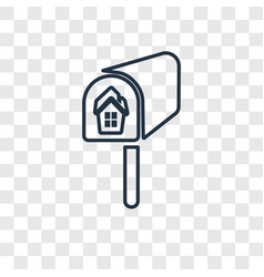 mailbox concept linear icon isolated on vector image