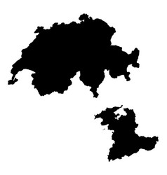 Map switzerland and berne country and capital vector