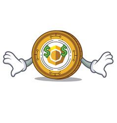 Money eye komodo coin mascot cartoon vector