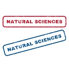 Natural Sciences Rubber Stamps vector