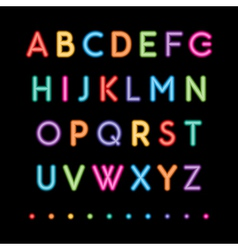 Neon capital letters vector