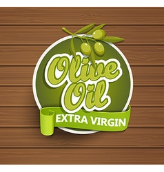 Olive oil extra virgin label vector image