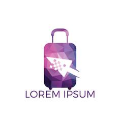 online shop logo design vector image