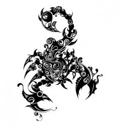Oriental scorpio vector