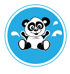 Panda bathing vector image