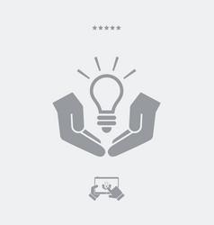 patented idea - web icon vector image