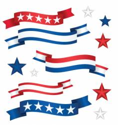 Patriotic banners vector