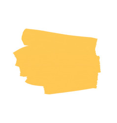 place for text brushstroke yellow on vector image