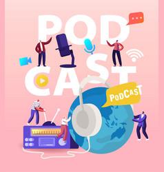 podcast comic talks or audio program online vector image