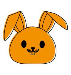 Rabbit or bunny cute animal cartoon icon image vector