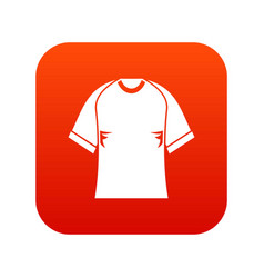 Raglan tshirt icon digital red vector
