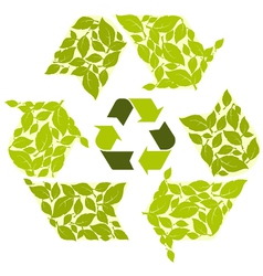 Recycling symbol vector