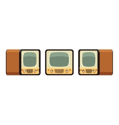 Retro TV sets vector