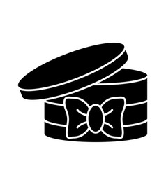 round box ribbon vector image